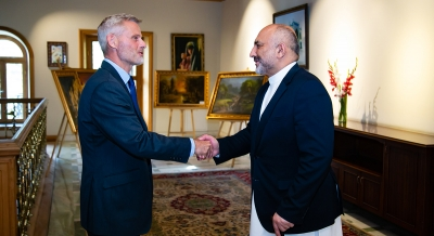 Minister of Foreign Affairs Meets German Embassy's Charge d'Affaires